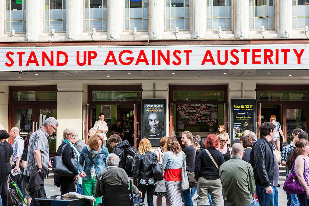 The Peoples Assembly  presents: Stand Up Against Austerity. Live at the Hammersmith Apollo. London. © Andrew Aitchison / Peoples Assembly