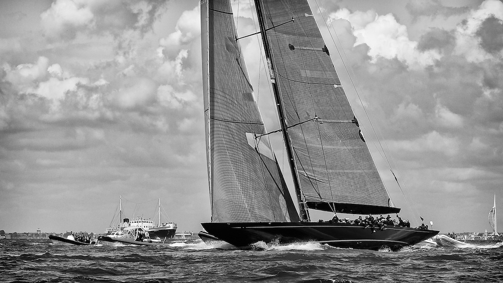ENGLAND, Isle of Wight. 21st June 2012. J Class Solent Regatta. Hundred Guinea Cup. Lionheart, H1.