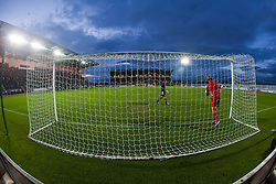The pitch at half time during the Falkirk v Rangers in the Ramsdens Cup..©Michael Schofield..