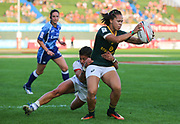 DUBAI, UNITED ARAB EMIRATES - Thursdays 30 November 2017, Mathrin Simmers of South Africa during HSBC Emirates Airline Dubai Rugby Sevens match between South Africa and the USA at The Sevens Stadium in Dubai.<br /> Photo by Roger Sedres/ImageSA