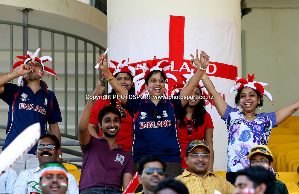 England cricket Spoters injoy the game during the ICC Cricket World Cup - 36th Match, Group B England vs West Indies Played at MA Chidambaram Stadium, Chepauk, Chennai (neutral venue)