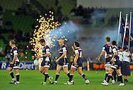 The Rebels take to the field.Melbourne Rebels v The Hurricanes.Rugby Union - 2011 Super Rugby.AAMI Park, Melbourne VIC Australia.Friday, 25 March 2011.© Sport the library / Jeff Crow