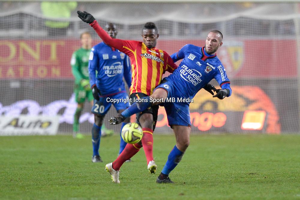 Didier DIGARD / Wylan CYPRIEN - 19.12.2014 - Lens / Nice - 19e journee Ligue 1<br />Photo : Aurelien Meunier / Icon Sport