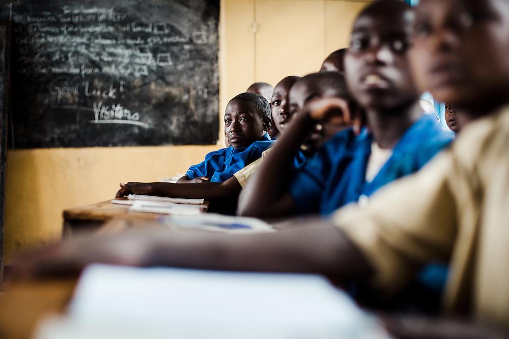 Children attend class at the local school, Nyamurimirwa, which was built with ActionAid funding. Shingiro District, Rwanda