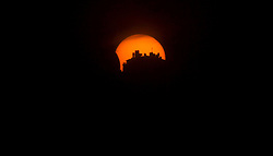 60670623  <br /> Partial solar eclipse is seen in the West Bank City of Nablus, Sunday November 3 2013. Picture by  imago / i-Images.<br /> UK ONLY