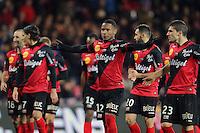 JOIE GUINGAMP  / Claudio BEAUVUE  - 14.12.2014 - Guingamp / PSG - 18eme journee de Ligue1<br /> Photo : Vincent Michel / Icon Sport *** Local Caption ***