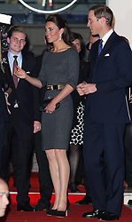 The Duke and Duchess of Cambridge leaving a reception at The Imperial War Museum  in London, Thursday, 26th April, 2012. Photo by: Stephen Lock / i-Images