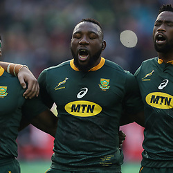 Chiliboy Ralepelle with Tendai Mtawarira and Siya Kolisi (captain) of South Africa during the 2018 Castle Lager Incoming Series 3rd Test match between South Africa and England at Newlands Rugby Stadium,Cape Town,South Africa. 23,06,2018 Photo by (Steve Haag JMP)