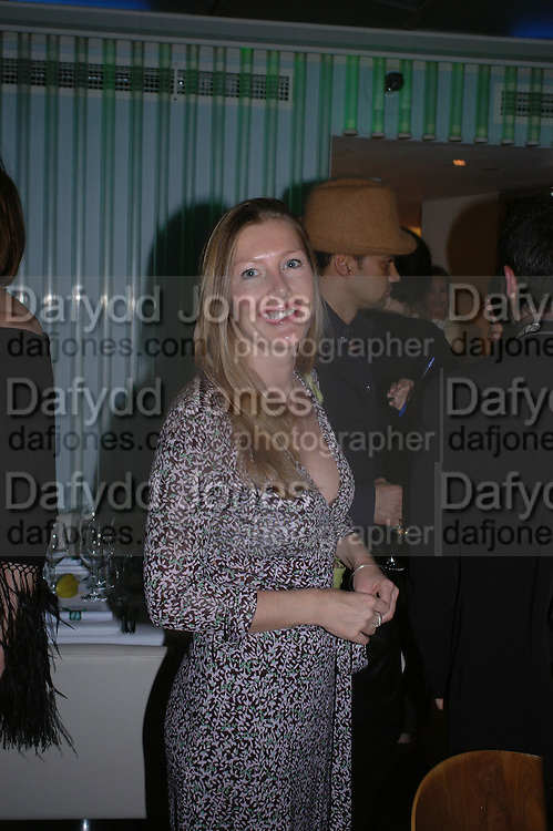 Sophie Conran. Launch dinner for Island Beauty by India Hicks hosted by Charles Finch and Harvey Nichols Fifth Floor Restaurant. London. .  14  November 2005 . ONE TIME USE ONLY - DO NOT ARCHIVE © Copyright Photograph by Dafydd Jones 66 Stockwell Park Rd. London SW9 0DA Tel 020 7733 0108 www.dafjones.com