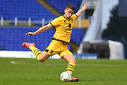 Milton Keynes Dons midfielder Jordan Houghton (24) takes a shot at goal  during the EFL Sky Bet League 1 match between Coventry City and Milton Keynes Dons at the Trillion Trophy Stadium, Birmingham, England on 11 January 2020.