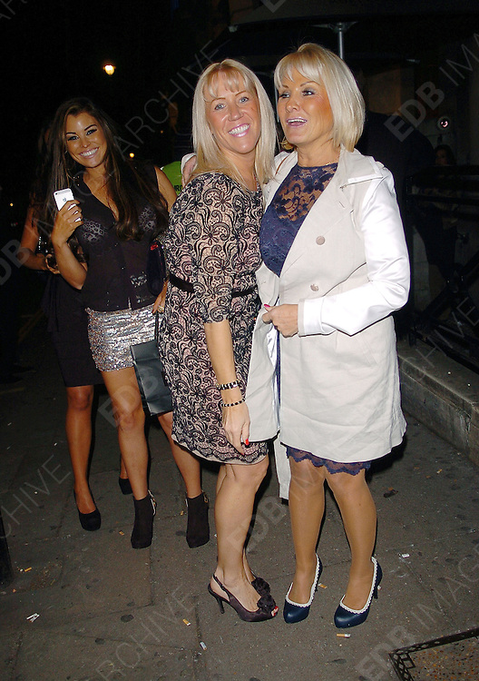 07.NOVEMBER.2012. LONDON<br /> <br /> JESSICA WRIGHT AND CAROL WRIGHT LEAVING AURA NIGHT CLUB AFTER JESSICA'S LINGERIE LAUNCH PARTY.<br /> <br /> BYLINE: EDBIMAGEARCHIVE.CO.UK<br /> <br /> *THIS IMAGE IS STRICTLY FOR UK NEWSPAPERS AND MAGAZINES ONLY*<br /> *FOR WORLD WIDE SALES AND WEB USE PLEASE CONTACT EDBIMAGEARCHIVE - 0208 954 5968*