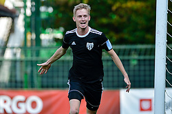 Zan Karnicnik of NS Mura celebrates during football match between NS Mura and NK Rudar Velenje in 13th Round of Prva liga Telekom Slovenije 2018/19, on October 20, 2018 in Mestni stadion Fazanerija, Murska Sobota , Slovenia. Photo by Mario Horvat / Sportida