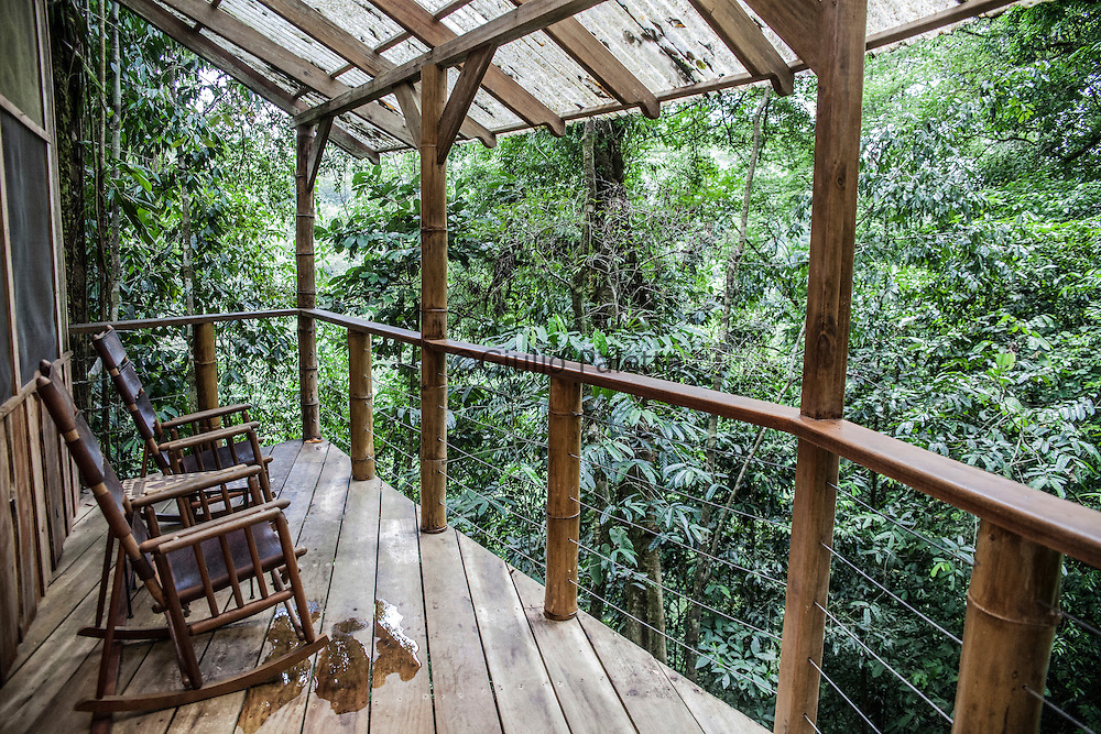 Inside one of the tree houses of Finca Bellavista