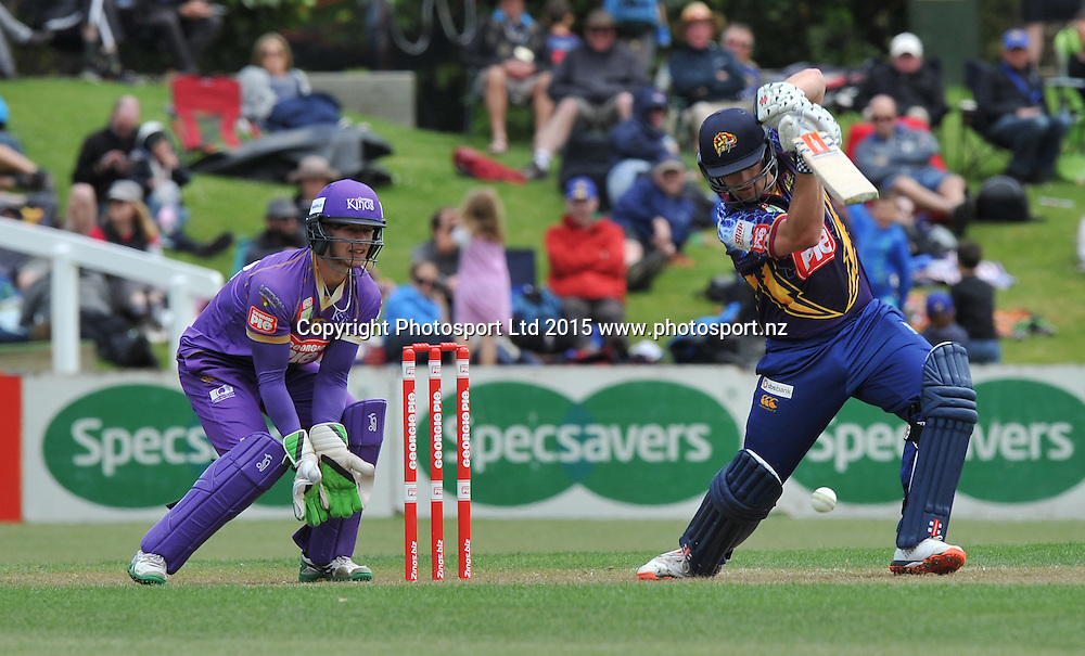 Otago Volts Neil Broom in the Georgie Pie Super Smash Twenty20 cricket match between the Otago Volts v Canterbury Kings held at the University Oval, Dunedin. 29 November 2015.