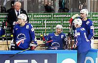 Blessure Stephane Da Costa - 05.05.2015 - Autriche / France  - Championnats du Monde de Hockey sur Glace 2015 -Prague<br />Photo : Xavier Laine / Icon Sport