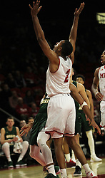 November 14, 2017 - Oxford, Ohio, U.S - Miami (Oh) Redhawks forward Rod Mills Jr. (2) celibates the Redhawks win in Overtime . On Tue Nov 14, 2017 in Oxford,Ohio win in Overtime 73 to 67 over Wright State Raiders. (Credit Image: © Ernest Coleman via ZUMA Wire)