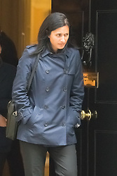 Downing Street, London, October 20th 2015.  Minister of State for Employment Priti Patel leaves 10 Downing Street after attending the weekly caninet meeting