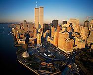 Aerial view of  Lower Manhattan, Battery Park, New York City, New York, USA