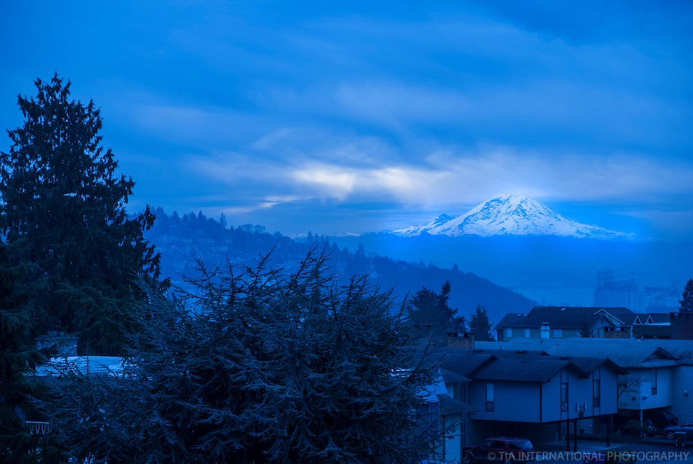 JANUARY 6TH:  Rainier in Blue