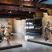 "Venezia - Punta della Dogana . La mostra di Damien Hirst: ""Tresaures from the Wreck of Unbelievable. - The lion woman of asit major""."