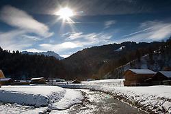 04-02-2011 SKIEN:  FIS ALPINE WORLD CHAMPIONSSHIP: GARMISCH PARTENKIRCHEN<br /> A general view of the river and fields in Garmisch.                                        <br /> **NETHERLANDS ONLY**<br /> ©2011-WWW.FOTOHOOGENDOORN.NL/NPH-Mitchell Gunn