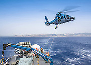 Israeli Air force helicopter, Eurocopter HH-65 Dauphin used by the Israeli Navy missile boat class Saar 4.5