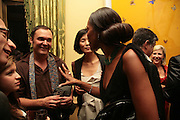 DAVID LACHAPELLE AND NAOMI CAMPBELL, Party for David LaChapelle and Ron Arad given by Ivor Braka. Cadogan sq. London. 10 October 2007. -DO NOT ARCHIVE-© Copyright Photograph by Dafydd Jones. 248 Clapham Rd. London SW9 0PZ. Tel 0207 820 0771. www.dafjones.com.