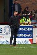 9th December 2018, Dens Park, Dundee, Scotland; Ladbrokes Premiership football, Dundee versus Rangers; Dundee manager Jim McIntyre