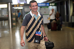 Shooter Rajmond Debevec of Slovenian Olympic Team at departure to Beijing 2008 Olympic games, on July 31, 2008, at Airport Jozeta Pucnika, Brnik, Slovenia. (Photo by Vid Ponikvar / Sportal Images)/ Sportida)