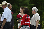 Jason Cobb and Alyssa Miller attend their wedding at Spring Heights in Spencer, West Virginia, June 24, 2017. Photo by David Tulis.