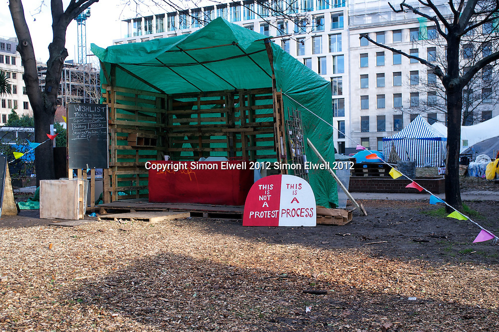 Occupy London protest Site at Finsbury Square, London Occupy London Protest in Finsbury Square, Jan 2012