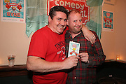 repro free: Vodafone Comedy Carnival : <br /> <br /> Pictured at the launch of the Vodafone Comedy Carnival in the Roisin Dubh were Kevin Healy and Fred Cooke. The 2016 Vodafone Comedy Carnival runs as part of Vodafone&rsquo;s Centre Stage and is sure to fill the &lsquo;Eyre&rsquo; with laughter with performances from international and home grown comedians over the October bank holiday weekend (25th to 31st of October). Shows will take place in multiple venues across the city, including the brand new venue &lsquo;The Red Box&rsquo; at Eyre Square. Tickets on sale from Monday 29th August. For more for info go to  HYPERLINK &quot;http://www.vodafonecomedycarnival.com&quot; www.vodafonecomedycarnival.com&nbsp; <br /> Photo: xposure.