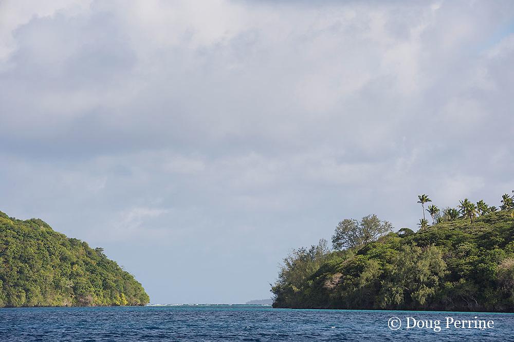 pass into Hunga Lagoon, Hunga Island, Vava'u, Kingdom of Tonga, South Pacific
