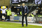 Brighton manager Chris Hughton during the Sky Bet Championship match between Derby County and Brighton and Hove Albion at the iPro Stadium, Derby, England on 12 December 2015. Photo by Shane Healey.