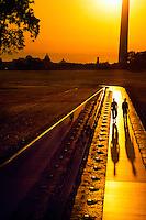 Vietnam Veterans Memorial (Washington Monument and U.S. Capitol in background), Washington D.C.