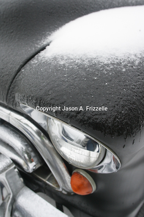 Wilmington saw a wintry mix of sleet, snow, and freezing rain Tuesday and Wednesday which caused extensive closings throughout the area. (Jason A. Frizzelle)
