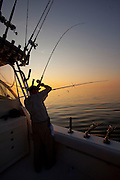 Charter fishing on Lake Michigan near Sturgeon Bay, in Door County Wisconsin. (Mike Roemer Photography)