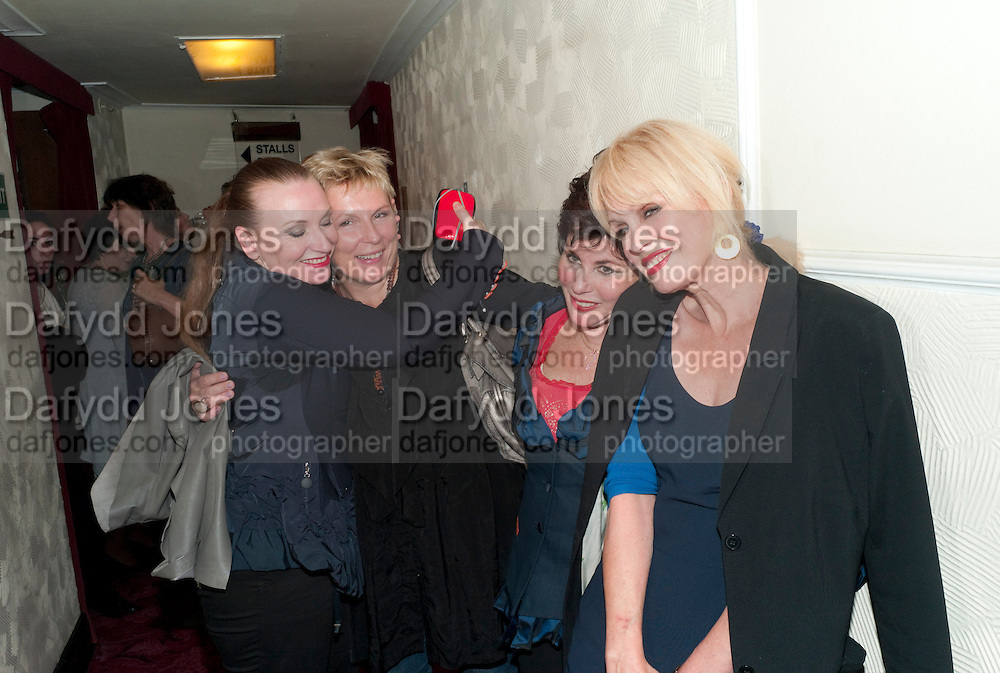 JUDITH OWEN; JENNIFER SAUNDERS; RUBY WAX; JOANNA LUMLEY, Press night for Ruby Wax- Losing it. Duchess theatre. London. 1 September 2011. <br /> <br />  , -DO NOT ARCHIVE-&copy; Copyright Photograph by Dafydd Jones. 248 Clapham Rd. London SW9 0PZ. Tel 0207 820 0771. www.dafjones.com.