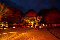 Goat hair tents, Captain's Desert Camp, Wadi Rum (in the Arabian Desert), Jordan