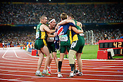 Australia in The Bird's nest national stadium in the men's 4 x 100 metre relay T 42 - 46  Final at the Paralympic games, Beijing, China.16th September 2008