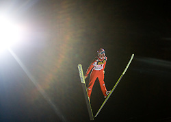Martin Koch (AUT) competes during First round of the FIS Ski Jumping World Cup event of the 58th Four Hills ski jumping tournament, on January 6, 2010 in Bischofshofen, Austria. (Photo by Vid Ponikvar / Sportida)