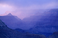Stormy sunset over the Grand Canyon, from Grandview Point, South Rim Grand Canyon National Park, Arizona