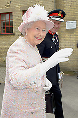 MAY 23 2013 The Queen & The Duke of Edinburgh Arrives at Cambridge Station