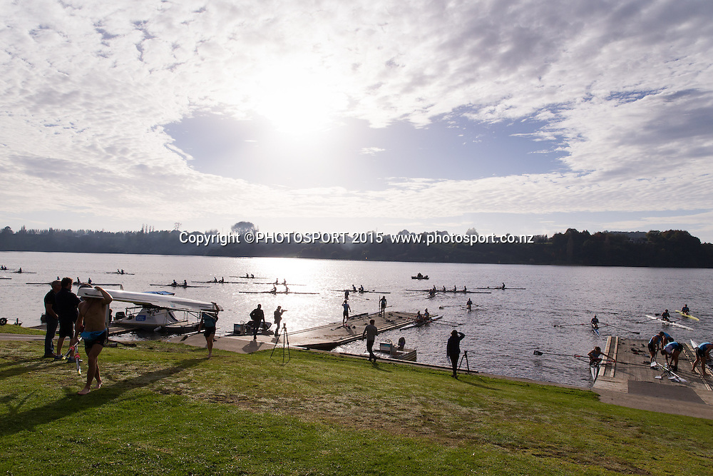 at the Rowing NZ Media Day, Lake Karapiro, Cambridge, New Zealand, Wednesday 6 May 2015. Photo: Stephen Barker/Photosport.co.nz