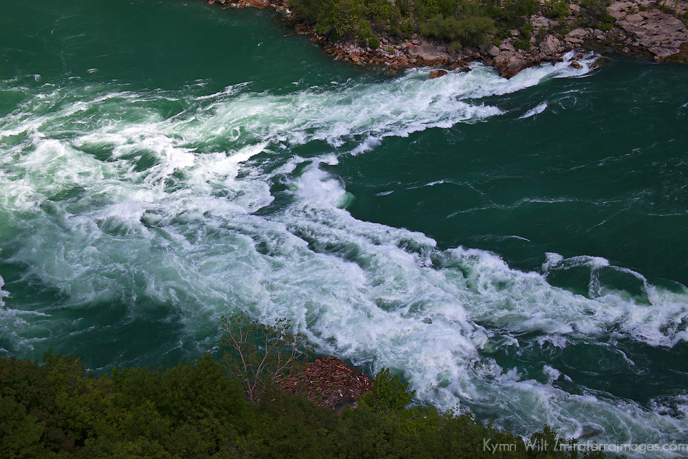 Canada, Ontario, Niagara Falls. White water Rapids of the Niagara River.