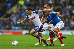Jon Taylor of Rotherham United under pressure from Nathan Thompson of Portsmouth - Mandatory by-line: Jason Brown/JMP - 03/09/2017 - FOOTBALL - Fratton Park - Portsmouth, England - Portsmouth v Rotherham United - Sky Bet League Two