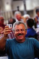 toast with rosé, Provence, France