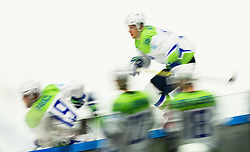 Players of Slovenia during Ice Hockey match between Slovenia and Norway at Day 8 in Group B of 2015 IIHF World Championship, on May 8, 2015 in CEZ Arena, Ostrava, Czech Republic. Photo by Vid Ponikvar / Sportida