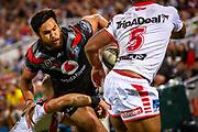 Peta Hiku. Auckland Warriors v St George Dragons. NRL Rugby League.Magic Round 2019 Suncorp Stadium, Brisbane, New Zealand. May 11, 2019. © Copyright photo: Patrick Hamilton / www.photosport.nz