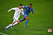 All Whites' Dane Ingham and Fiji's Epeli Saukuru during New Zealand All Whites v Fiji, FIFA Football World Cup Qualification, OFC Final Group Stage. Westpac Stadium, Wellington, New Zealand. 28 March 2017. Copyright Image: Mark Tantrum / www.photosport.nz